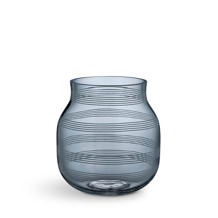KÄHLER Omaggio vase H 17 cm stålblå