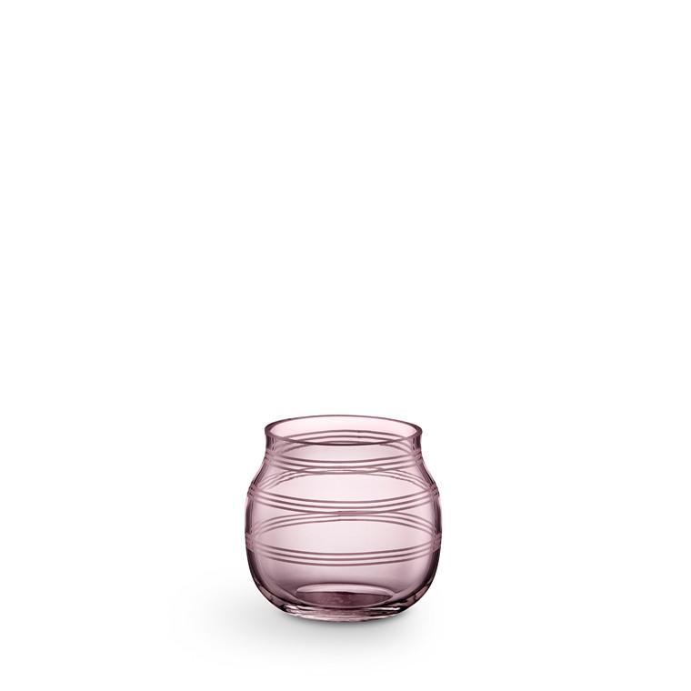 KÄHLER Omaggio fyrfadsstage H 7,5 cm blomme