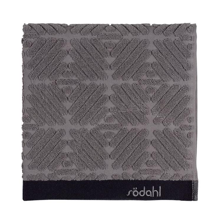 Södahl Spirit  håndklæde 50 x 100 cm grå/sort
