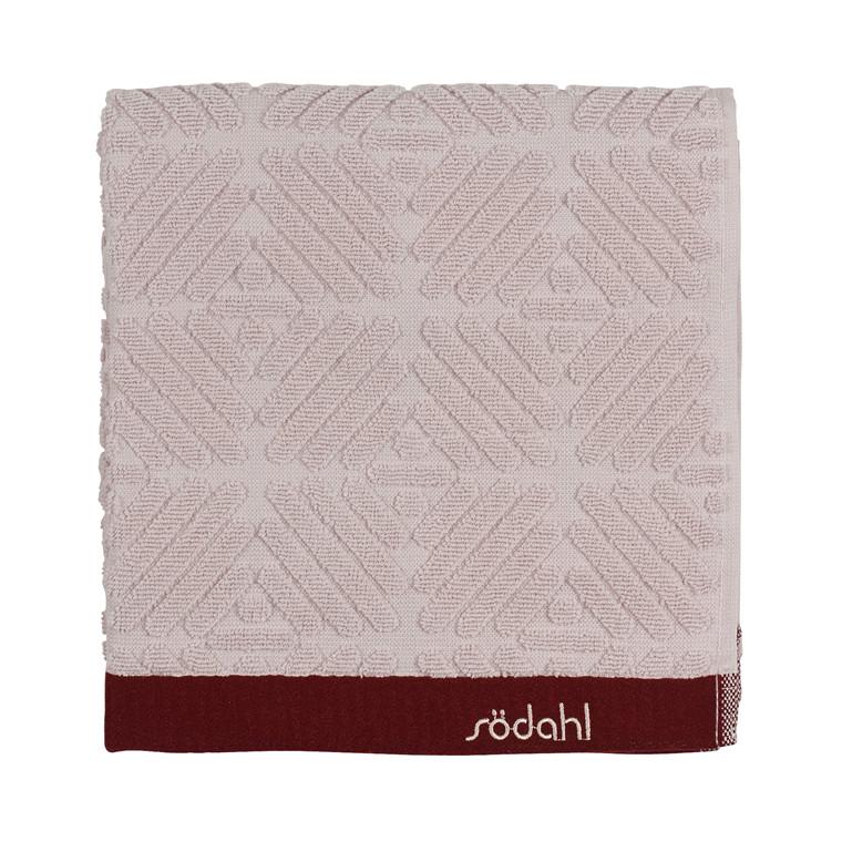 Södahl Spirit  håndklæde 50 x 100 cm rosa/wine