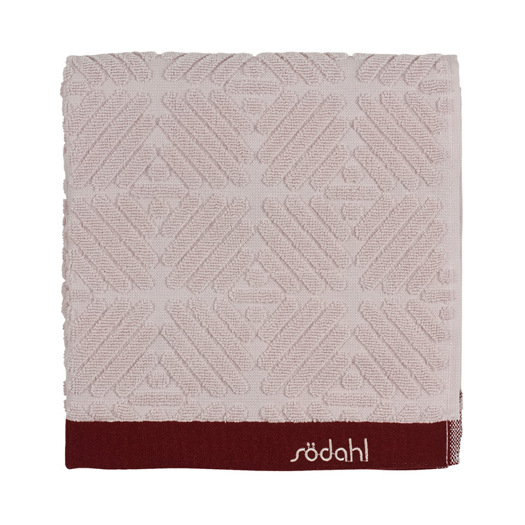 Södahl Spirit  håndklæde 70 x 140 cm rosa/wine