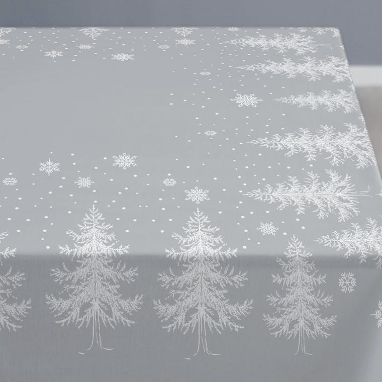 Södahl Winterland damaskdug 150 x 270 grå