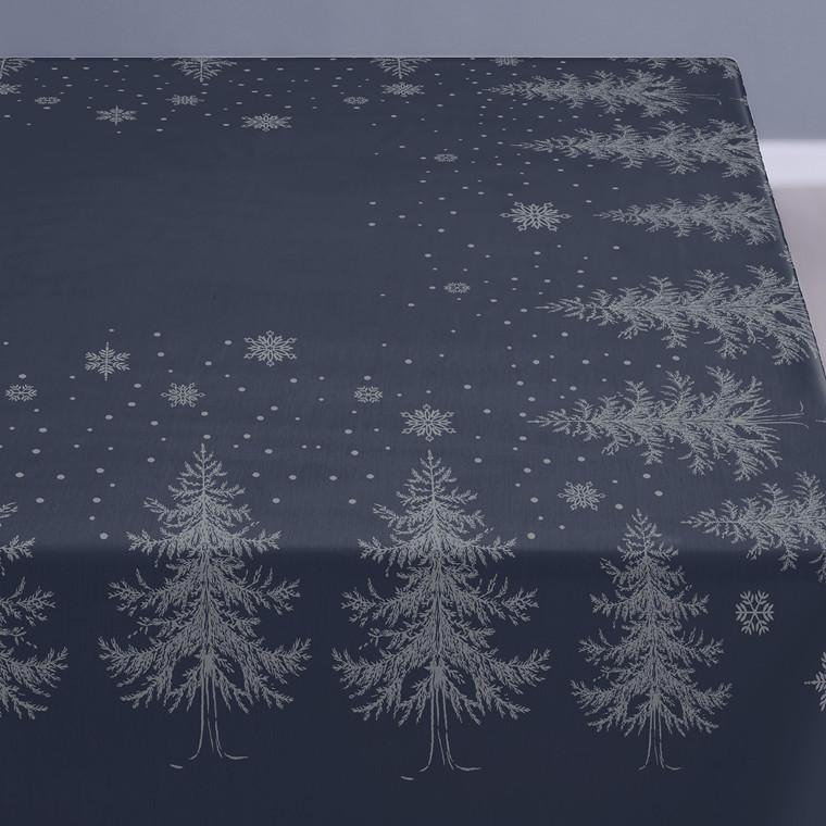 SÖDAHL Winterland damaskdug 150 X 320 cm blå