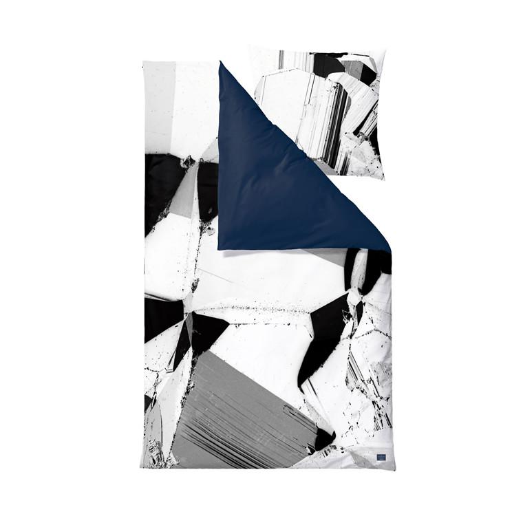 SÖDAHL Pyrite sengelinned 140 X 200 cm sort/hvid/mørk blå