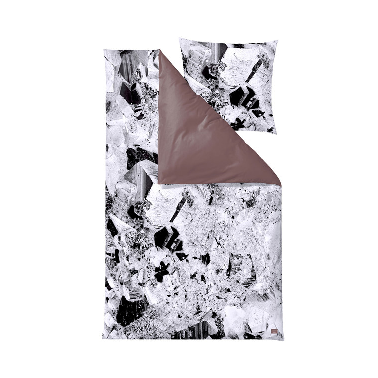 SÖDAHL Pyrite sengelinned 140 X 220 cm sort/hvid/dusty berry