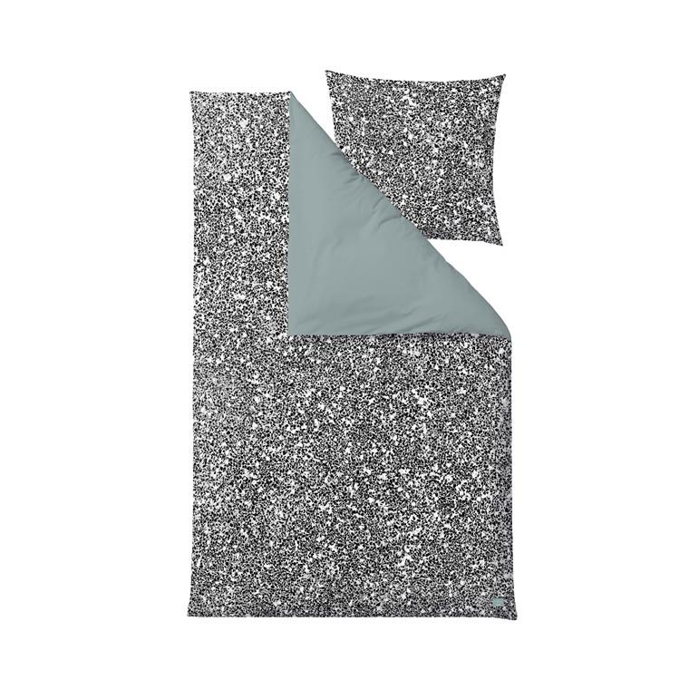 SÖDAHL Terrazzo Dark sengelinned 140 X 220 cm sort/hvid/grøn