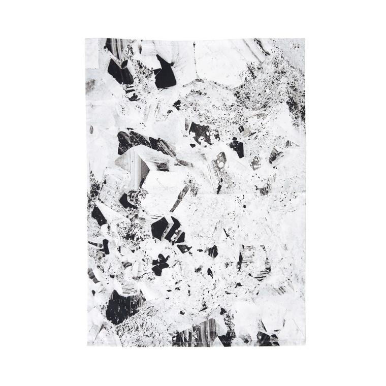 SÖDAHL Pyrite viskestykke sort/hvid m. småt mønster