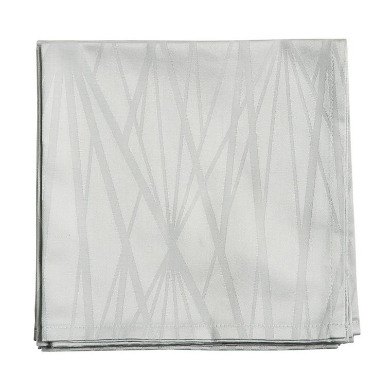 SÖDAHL Diamond Grid mundservietter 4 pak lys grå