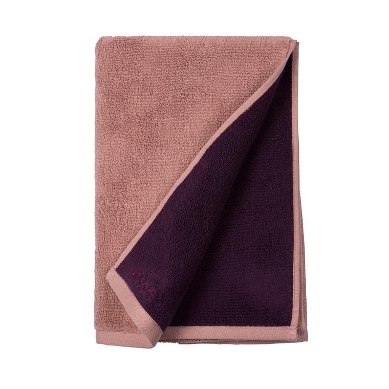 SÖDAHL Håndklæde 70x140 fragment mørk blomme/lys blomme