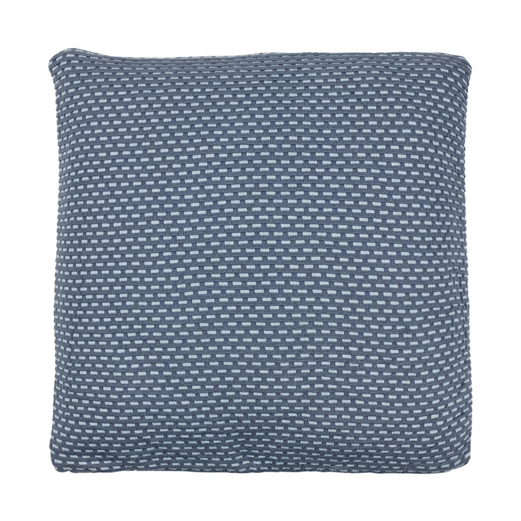 Södahl Brick knit pude 45 x 45 cm china blue