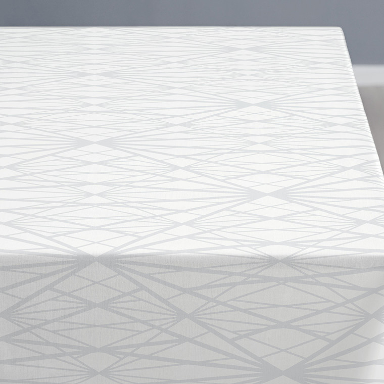 Södahl Diamond Grid dug 140 X 320 cm hvid