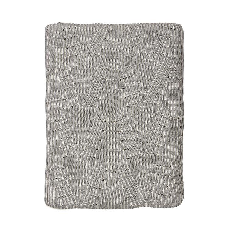 Södahl Waves plaid 130 x 170 cm grå