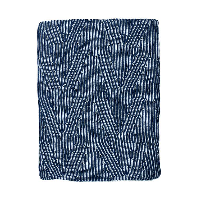 Södahl Waves plaid 130 x 170 cm indigo