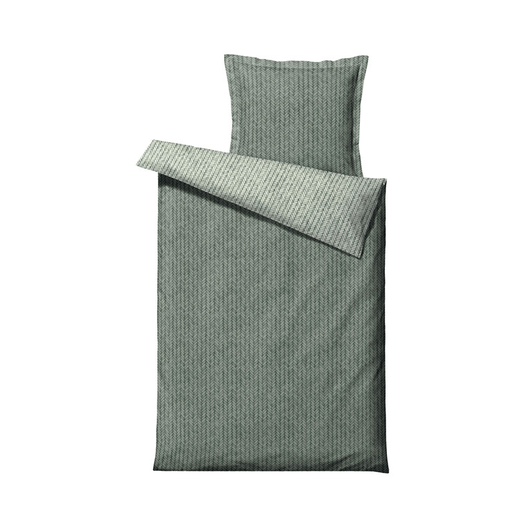 SÖDAHL Braided sengetøj 140x220 cm leaf green