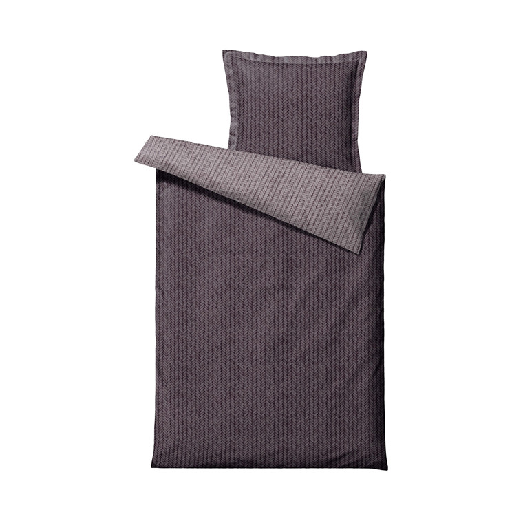 SÖDAHL Braided sengetøj 140x220 cm lavender