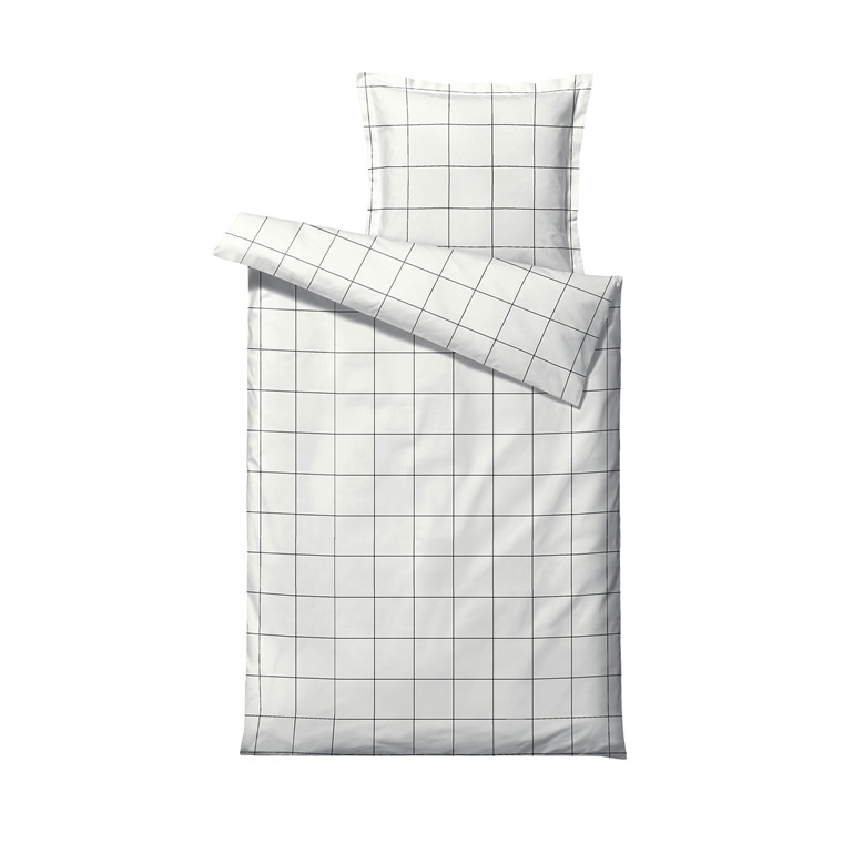 SÖDAHL Minimal sengetøj 140x200 cm white