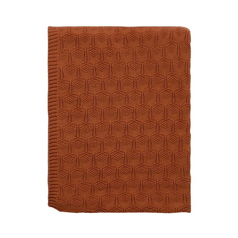 SÖDAHL Deco Knit plaid 130x170 cm terracotta