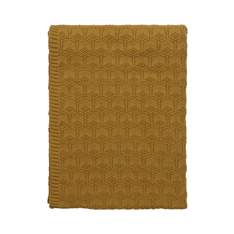 Södahl Deco Knit plaid 130x170 cm golden