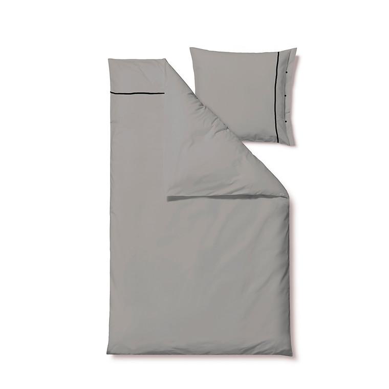 Södahl Superior sengelinned 140 x 220 grå/sort
