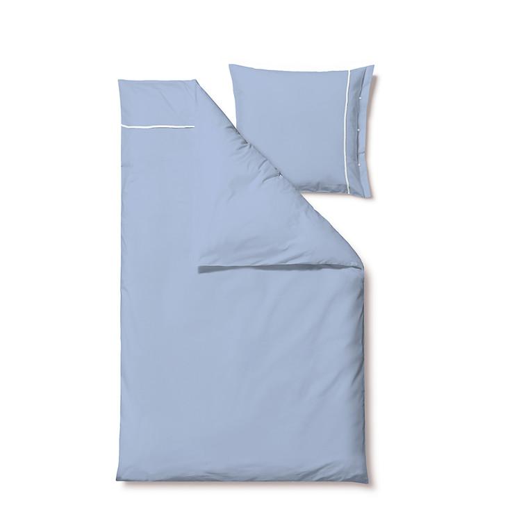 Södahl Superior sengelinned 140 x 200 cm blå/hvid