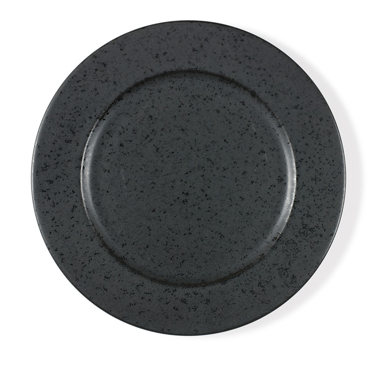 BITZ tallerken 27 cm antracit sort stentøj