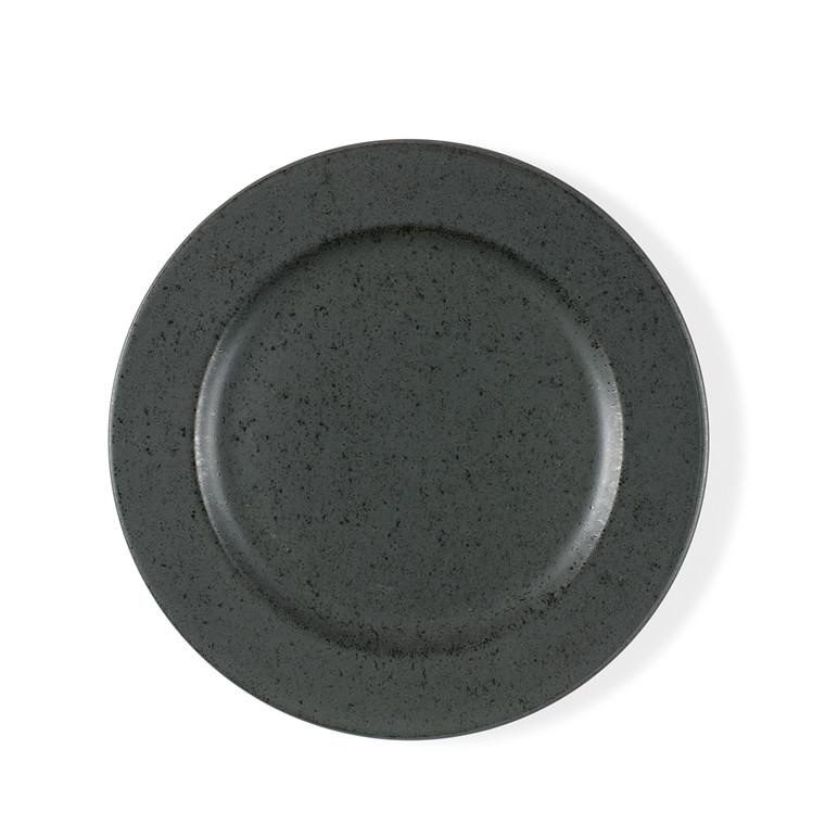 BITZ Tallerken 22 cm antracit sort stentøj