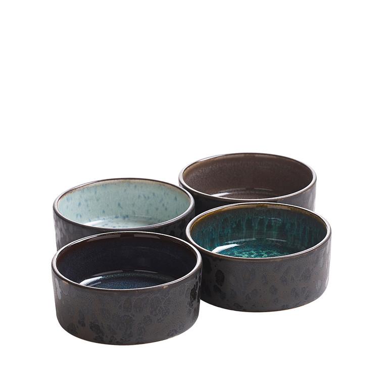 BITZ Miniskålesæt 4 stk sort stentøj