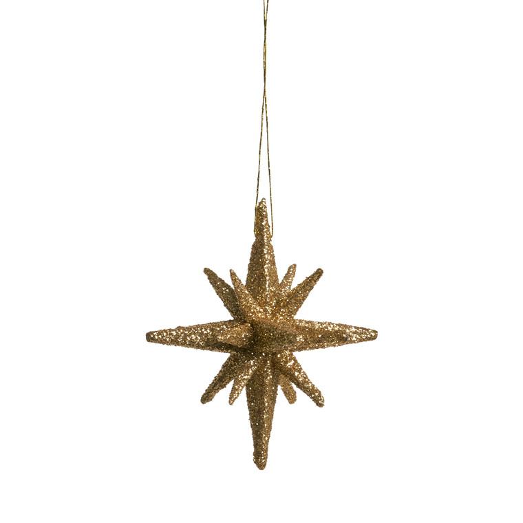 MEDUSA Stjerne 7,5 cm 4 stk. guld