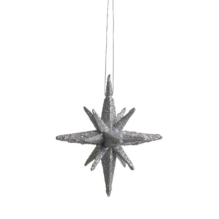MEDUSA Stjerne 7,5 cm 4 stk. sølv