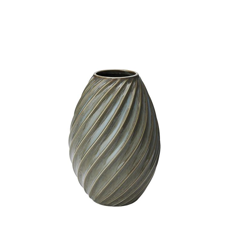 MORSØ Vase River 16 cm gråblå