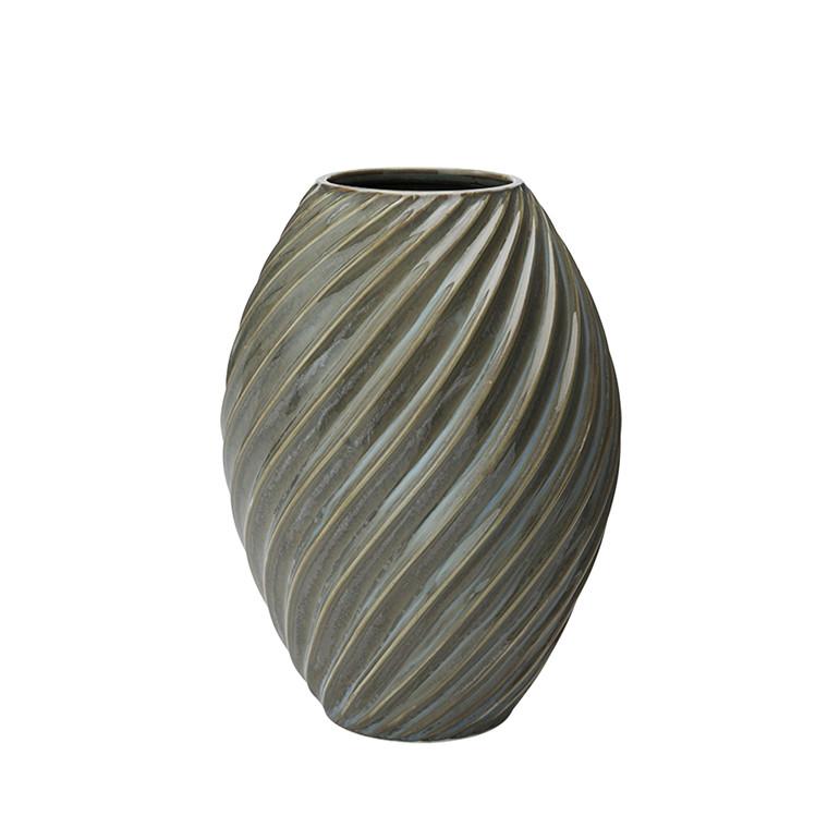 MORSØ Vase River 21 cm gråblå