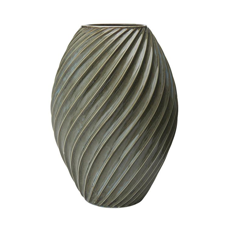 MORSØ Vase River 26 cm gråblå