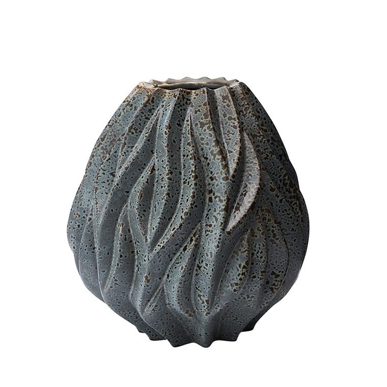 MORSØ Vase Flame 19 cm grå
