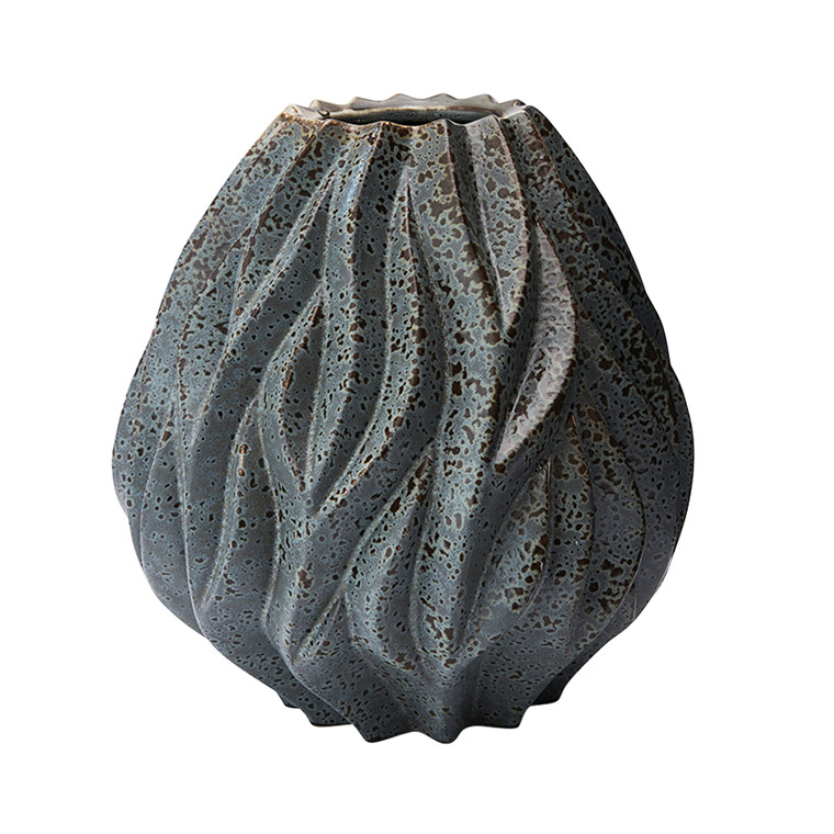 MORSØ Vase Flame 23 cm grå