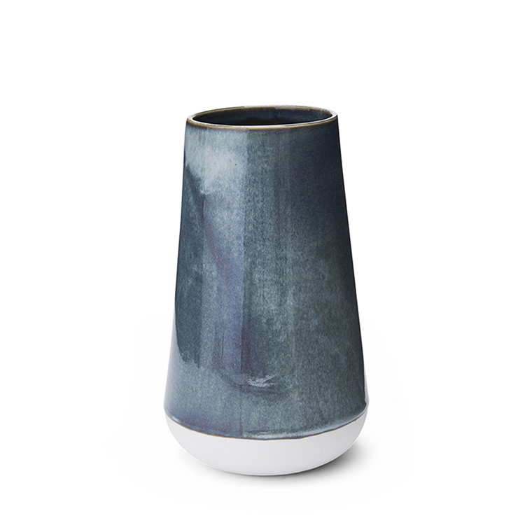 MORSØ Vase Glaze 20 cm blå/grøn
