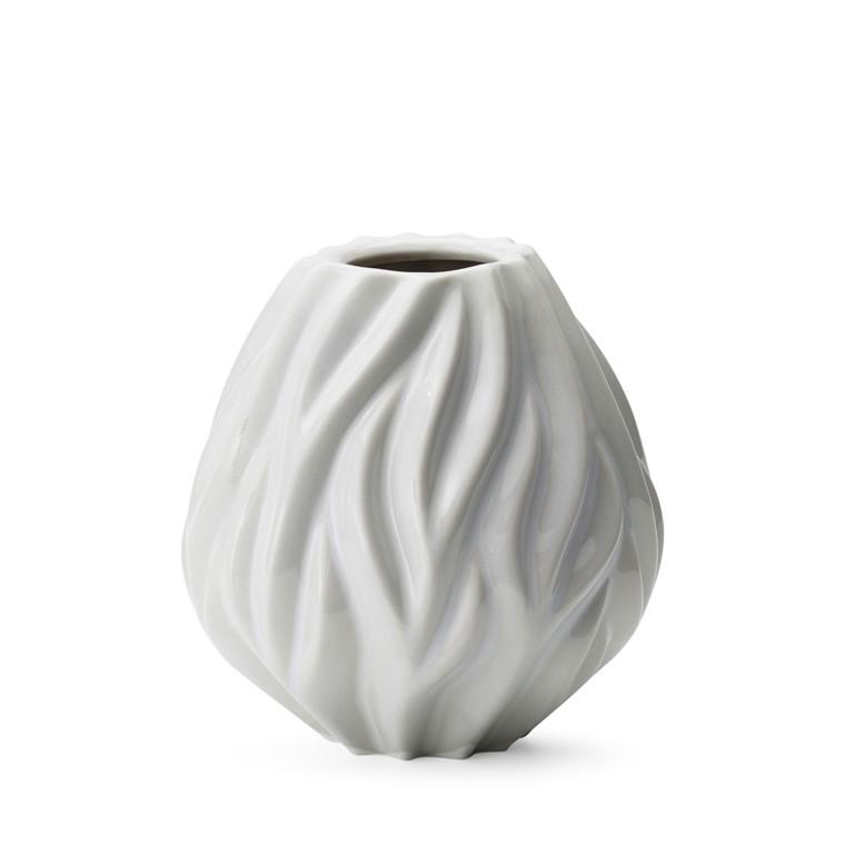 MORSØ Vase Flame 15 cm hvid