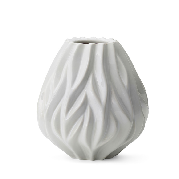 MORSØ Vase Flame 19 cm hvid