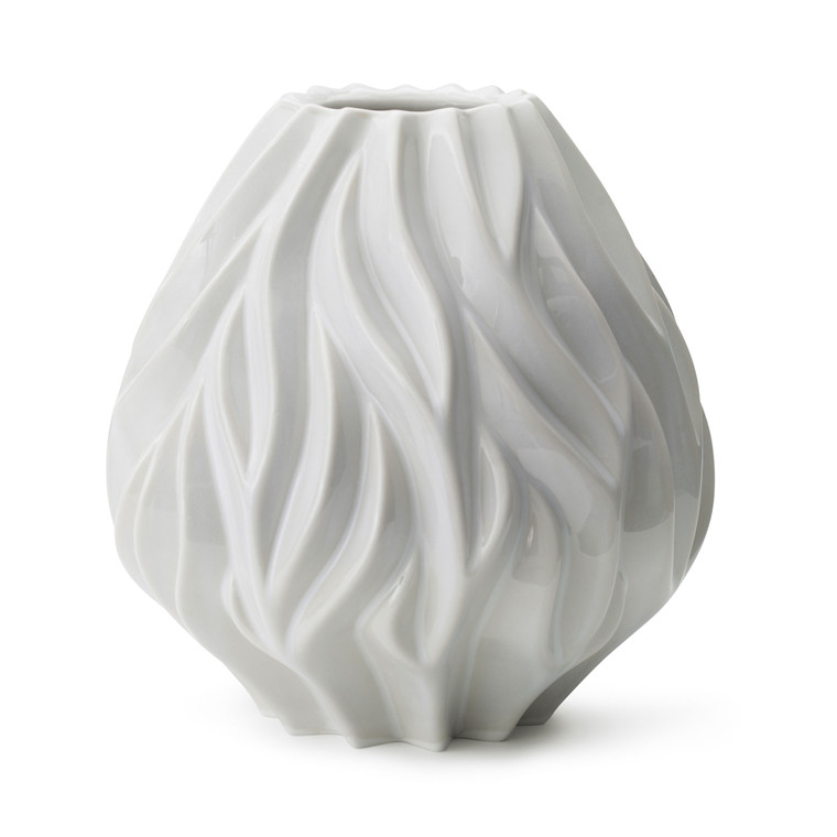 MORSØ Vase Flame 23 cm hvid