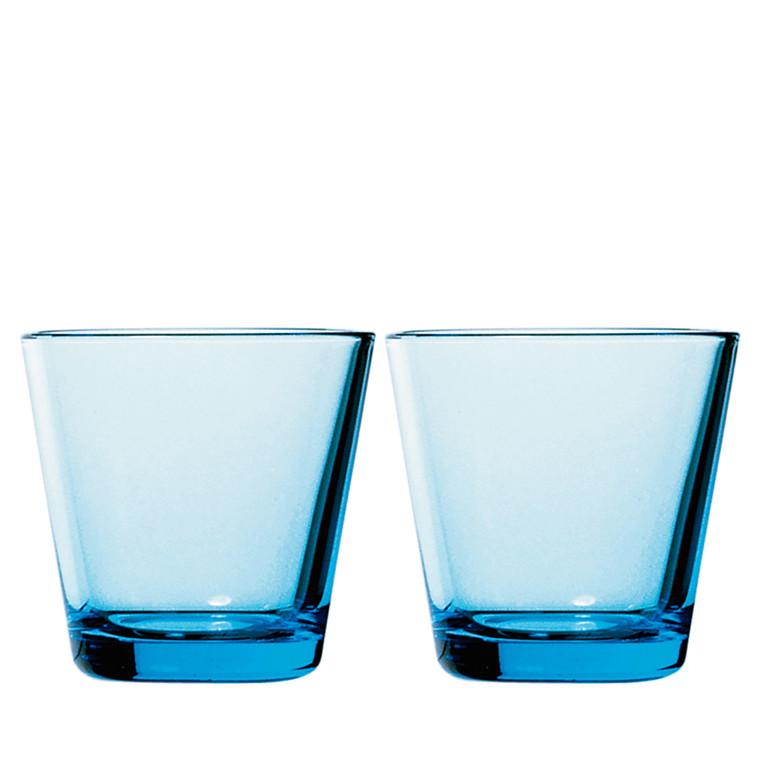IITTALA Kartio glas 21 cl lys blå 2 stk.