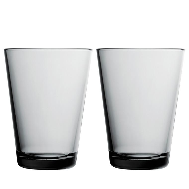 IITTALA Kartio glas 40 cl grå 2 stk.