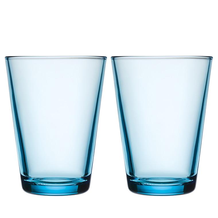 Iittala Kartio glas 40 cl lys blå 2 stk.