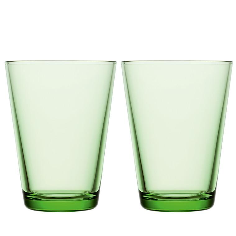 Iittala Kartio glas 40 cl æblegrøn 2 stk.