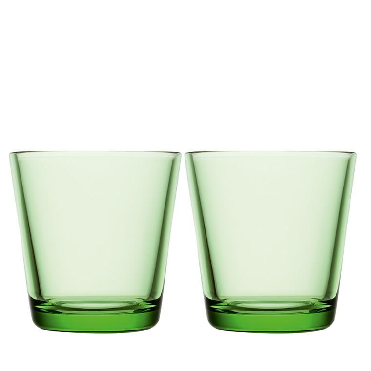 Iittala Kartio glas 21 cl æblegrøn 2 stk.
