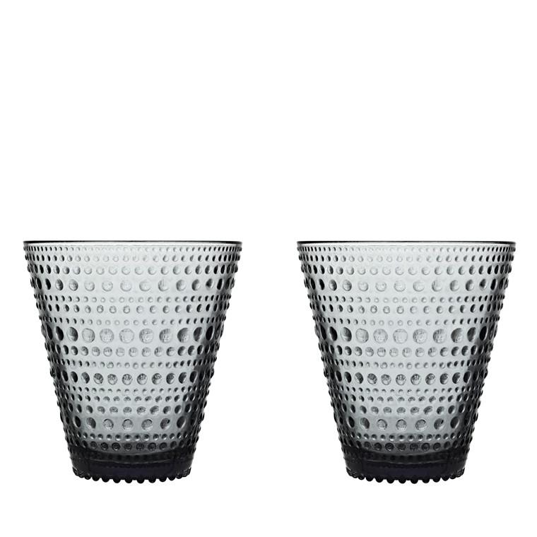 Iittala Kastehelmi glas 30 cl 2 stk. grå