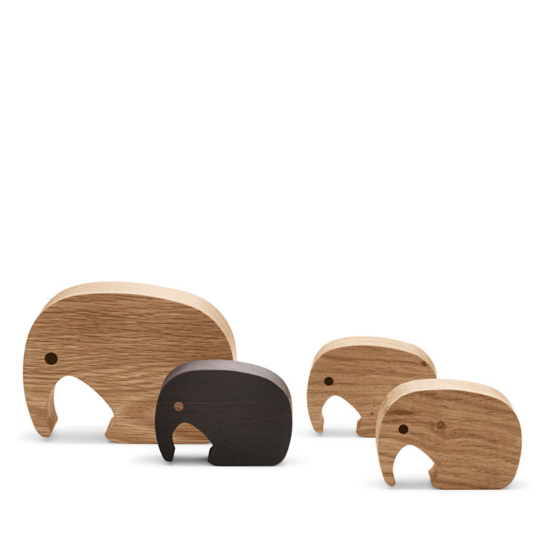 GEORG JENSEN træ elephanter sæt med 4