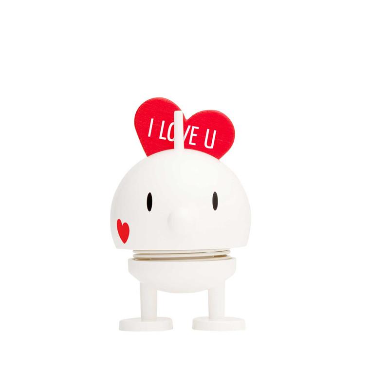 HOPTIMIST Baby Bumble LOVE hvid