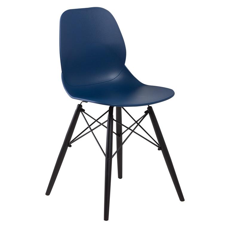 GIM spisebordsstol blå/sort