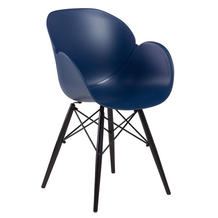 EDGE spisebordsstol blå/sort