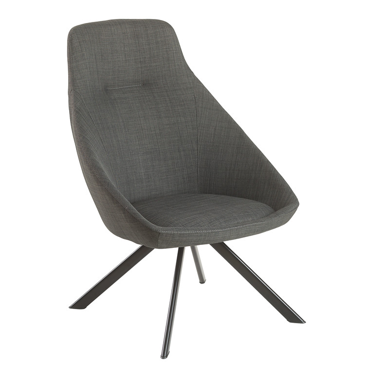 VIGGA loungestol mørk grå