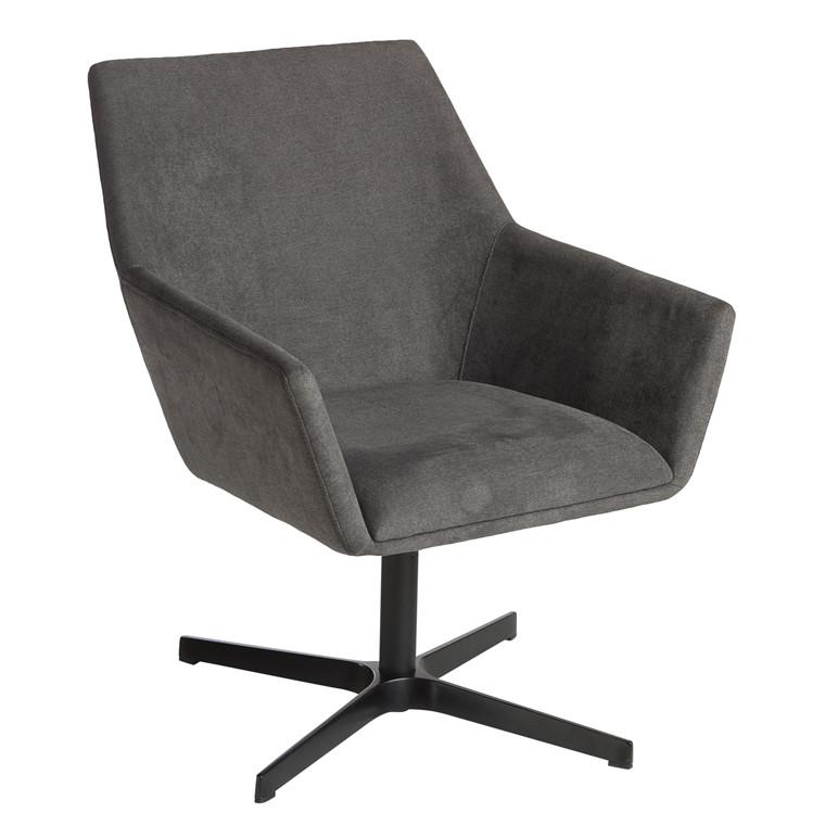 MILAN loungestol grå